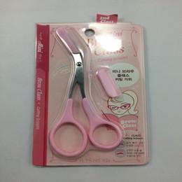 sopracciglia sottili Sconti Wholesale-1pc rosa sopracciglio trimmer ciglia cesoie pettinatura modellatura sopracciglio grooming strumento cosmetico, ciglia clip di capelli forbici