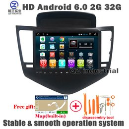 Wholesale Portable Dvd Player Bluetooth - QZ industrial HD 9inch Android 6.0 T3 Car DVD player for Chevrolet Cruze 2011-2014 with 3G 4G Wifi GPS BT Navigation Radio RDS SWC free map