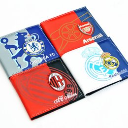 Wholesale landy house Liverpool Chelsea Real Madrid AC Milan football wallets Card holder pocket Purse team Souvenirs