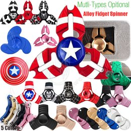 Wholesale New Fidget Spinners Toy Hand Spinner Golden Alloy Color Metal Multi Style Bearing CNC EDC Finger Tip Rotation Anxiety HandSpinners Toys DHL
