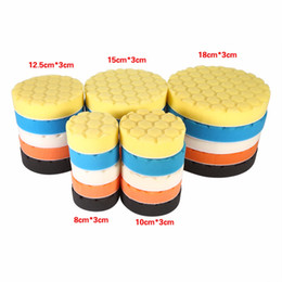 Wholesale Car Wax Polish Kit - Wholesale- Car-Styling 5pcs Car Sponge Buffing Sponge Polishing Wash Pad Hand Tool Kit For Car Polisher Wax Diagnostic-Tool 3 4 5 6 7 Inch