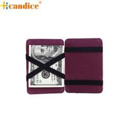 Wholesale Magic Cards Wholesale - Wholesale- Hcandice Best Gift Mini Neutral Grind Magic Bifold Leather Wallet Card Holder Wallet Purse Dec23