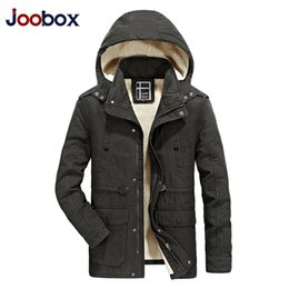 Wholesale Military Fur Coat Men - Men Winter Parkas Cotton Padded Jacket Fur Hooded Military Coats Snow Clothes High Quality Outwear Windbreakers 2017 New Arrival