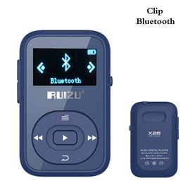 mp3 player blue bluetooth mini Coupons - Wholesale- Clip Bluetooth MP3 Player 8GB RUIZU-X26 Mini Portable Lossless Music Player with FM Radio Record support up to 64 GB-Blue
