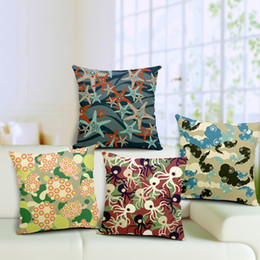 Wholesale Brown Modern Sofa - Modern Abstract Marine Animal Starfish   Octopus Throw Pillow Cushion Cover Cases 45x45cm Cotton Linen for chair car sofa decor
