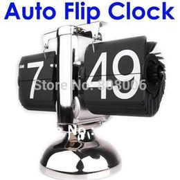 Wholesale Retro Flip Down Clock Internal - Wholesale-Retro Flip Down Clock Modern Scale Digital Desk Table Clock-Internal Gear Operated Free shipping