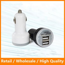 Wholesale Safe Suits - LED Dual 2 Port USB Car Charger Suit For Any Car-Styling Universal 2.1A Safe Charing for Andriod Samsung s8 s8 edge
