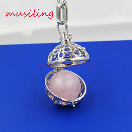 Wholesale Openwork Jewelry - musiling Jewelry Openwork Natural Stone Pendant Pendulum Lucky Lantern Various Accessories European Fashion Women Mens Jewelry Reiki Amulet