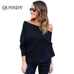 Wholesale Plus Size Off Shoulder Sweater - Wholesale- Ukraine women knitted Sweaters and pullovers plus size Off Shoulder sweater slash neck Pullover spring 2017 jerseis mujer hombro
