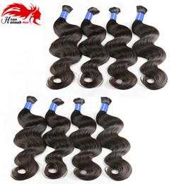 Wholesale Black Wave Bulk Extension - Hannah Great Braiding Hair Brazilian Bulk Natural Black Body Wave Human Hair Extensions Bulk Braiding Hair