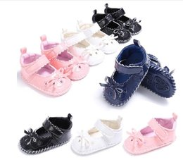 Wholesale Leather Shoes Wholesalers China - 2017 soft Rubber girls leather shoes,bow princess 0-18 M soft baby shoes,Autumn newborn walking shoes,china kids shoes.12pairs 24pcs.SX