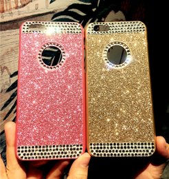 Wholesale Diamond Mobile Phone Cover - For iPhone 7 plus cases Luxury Diamond Glitter Hard Cell Phone Back Case Cover shell for iphone 7 6S plus 5S mobile phone