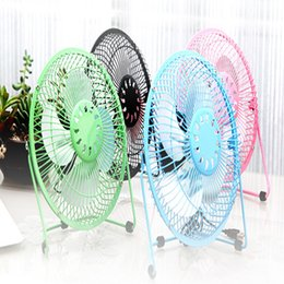 Wholesale Portable Electric Radiators - USB Electric Portable Fan 4 Inch Metal Head Fan 360 Rotate Metel Mute Radiator Mini Cooler Desktop Power PC Laptop Desk Fan