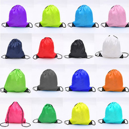 Wholesale Drawstring Dust Covers - Colorful Backpack Nylon Drawstring Bag Both Shoulders Bundle Pocket Polyester Cloth Storage Bags Waterproof Infantry Pack For Shop 2 8hh D R