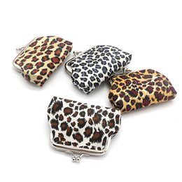 маленькие сумочки для монетки Скидка 2017 новая мода женщины леопард деньги бумажник малый размер микс цвет пряжки ткань портмоне девушка мини монета сумка lqb-078