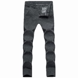 Wholesale Menswear Slim - Wholesale- free shipping 2017 Summer fluid Pants Slacks and slim pants menswear straight canister linen trousers male grey 28-36 code 53