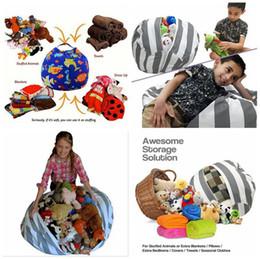 Wholesale Wholesale Cotton Canvas Bags - Stuffed Animal Storage Bean Bag 18inch 60cm 33 Styles Cotton Canvas Bean Bag Chair Spherical Kids Storage Bags OOA3523