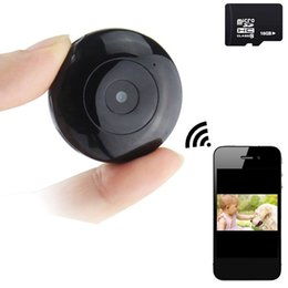 Wholesale Indoor Wireless Remote Control - Mini Wifi Camera Wireless HD IP Home Security Camera Sport Camera Included 16G Memory Nanny Cam Remote Control IOS Android Smartphone