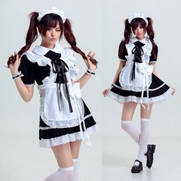 Wholesale Japanese Women Sexy Clothing - Japanese Maid Sexy Lingerie Set Pajamas Uniform Seduction Cosplay Role Play Women Clothing