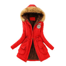 Wholesale Women S Hooded Thickening Fleece - S5Q Women's Winter Loose Thicken Warm Coat Hooded Jacket Overcoat Long Outwear AAAGNG