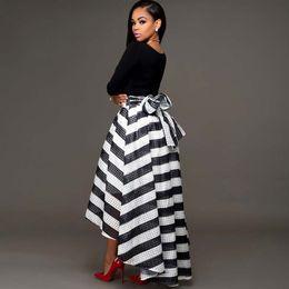 Wholesale Maxi Black Stripe Dress - Summer Style Black White Striped Maxi Dress Women Long Beach maxi dress stripe vest dress leisure women's clothes