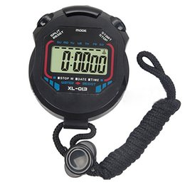 Wholesale Professional Chronograph - Wholesale- 1pc New Sport Digital Stopwatch Professional Handheld Digital LCD Sports Stopwatch Chronograph Counter Timer with Strap