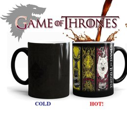 Wholesale Wholesale Drinking Games - Game Of Thrones Magic Mug Color Change High Temperature Resistance Cup Ceramic Mugs Surprise Gift For Drinking New 13yo