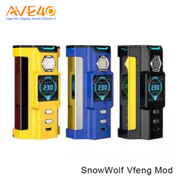 Wholesale Tier Boxes - Authentic SnowWolf Vfeng 230W TC Box Mod Powered by Dual High 18650 Top-tier Premiere Vape Device VS WISMEC RX GEN3