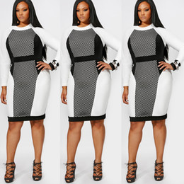 Wholesale Empire Sex - High Quality Casual Dress Apparel Plus Size for Womens Mesh Sex Costume Long Sleeves Bandage One Piece Dresses Sexy Dress XL XXL XXXL