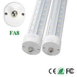 Wholesale Epistar Leds - T8 8ft 2400mm Single Pin Fa8 V Shaped Led Tube 55w Led Fluorescent Ligh Double Row Leds Indoor Lighting 36pcs