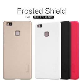 Wholesale Huawei Ascend Plastic Cases - Huawei Ascend P9 Lite  G9 lite Case NILLKIN Super Frosted Shield back cover case with free screen protector and Retail package