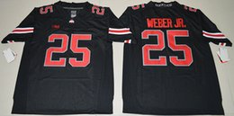 Wholesale Blackout Football - 2016 Ohio State Buckeyes Mike Weber Jr. 25 College Football Jersey - Blackout