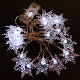 tapones de arbol Rebajas Nuevo 10M 100 LED Snowflake Tree String Fairy Lights Navidad fiesta de Navidad decoración de la boda enchufe de la UE 220V EE.UU.