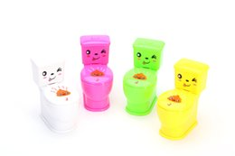 Wholesale Red Clay Pottery - April fool's day gift, novelty, gadgets Strange nose mud water closestool spoof those trick toys