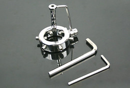 anel anti derramando Desconto Dispositivo de castidade masculina de aço inoxidável com cateter e anti-derramamento anel galo gaiola pênis anel adulto jogo