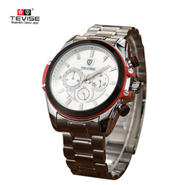 Wholesale Sapphire Crystal For Watches - 41mm Tevise 8391B movement Automatic sapphire glass Mechanical Watch for men