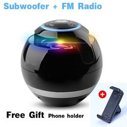 Wholesale Portable Amplifier Wireless Mic - Bluetooth Mini Speaker Receiver Boombox FM Radio Portable Caixa De Som Amplifier MP3 Subwoofer with Mic Car Loudspeaker