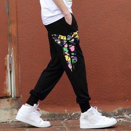 Wholesale Cargo Pants Dance - Wholesale- 2016 Cargo Pants men casual overalls Trousers plus size Color pattern Cartoon character L - 4XL Loose Dance Harem Hip Hop Pants