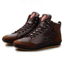 Wholesale Comfortable Warm Winter Boots - Wholesale-New Brand Designer Men Winter Casual Shoes Fashion Pu Mix Color High Top Boots British Style Comfortable Lace Up Warm Shoes