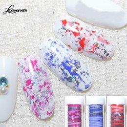 Wholesale Nail Decoration Designer - LEARNEVER 1 PC DIY Designer Cosmic Sky Strip Pattern Nails Art Sticker Fashion Nail Decorations Sticker
