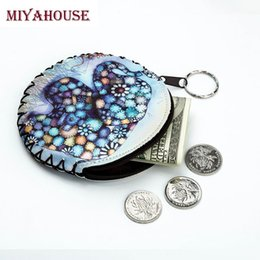 Wholesale Wholesale Leather Small Coin Pouches - Wholesale- Miyahouse Small Owl Coin Purse Cute Cartoon Wallet PU Leather Girls Zipper Change Purses Women Coin Pouch Wallet