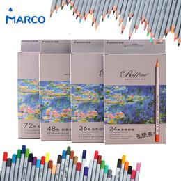 2019 lápis de cor Marco 72 pcs Colorido Lápis Pintura Set lapis de cor Não-tóxico Chumbo-livre Oleosa Cor Lápis Escrita Caneta Escritório Material Escolar lápis de cor barato