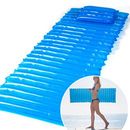 Wholesale Mattress Cool - Cool Air Inflatable Moisture-proof Pad Beach Water Float Mat Camping Tent Sleeping Bed 200x60x6cm   78 x 23 x 2inch