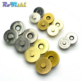 Wholesale wholesale purse parts - 10pcs lot Magnetic Snap Fasteners Clasps Buttons Handbag Purse Wallet Craft Bags Parts Accessories 14mm 18mm