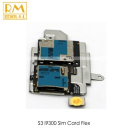 Wholesale S3 Sim Card Tray - 50pcs lot Original For Samsung Galaxy S3 i9300 S4 i9505 Replacement Parts Sim Card Reader Holder Micro SD Memory Socket Slot Tray Flex Cable