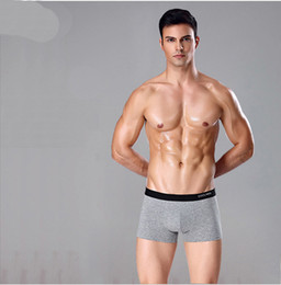Wholesale Boxers 3xl - Men's Pure Color Comfortable Cotton Breathable Angle Underwear Men In The Middle Of The Waist Light Waist Angle Underwear