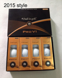 Wholesale 12 Boxes - good quality New 2015 style proV1 2013 style proV1x golf ball balls Clubs with box,a box of 12 balls, golf balls pro v1x,Free shipping