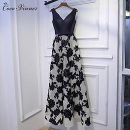 Wholesale Evening Dresses Colors - C.V A Line long Evening Dresses 2017 Flower Lace Long Formal Evening Dresses V neck 4 colors lace up Party Dresses E0003