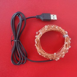 Wholesale Lights For Outdoor Ornaments - Wholesale- USB LED Cord Light 10M Waterproof Fairy LED Copper Wire Outdoor Lighting String For Party Christmas Ornaments Mariage