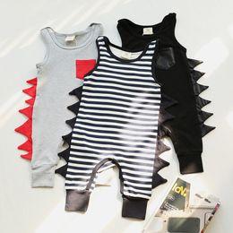 Wholesale Harem Pants Jumpsuit Romper - Ins Baby Romper Dinosaur Rompers Boy's Animal Jumpsuit Harem Pants Toddler Infant Outwear Kids Clothes Children Clothing Sets